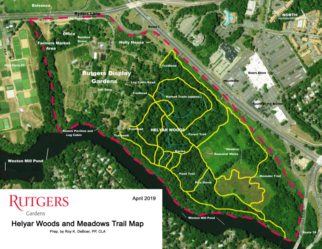 Woodland and Meadow Trail Map
