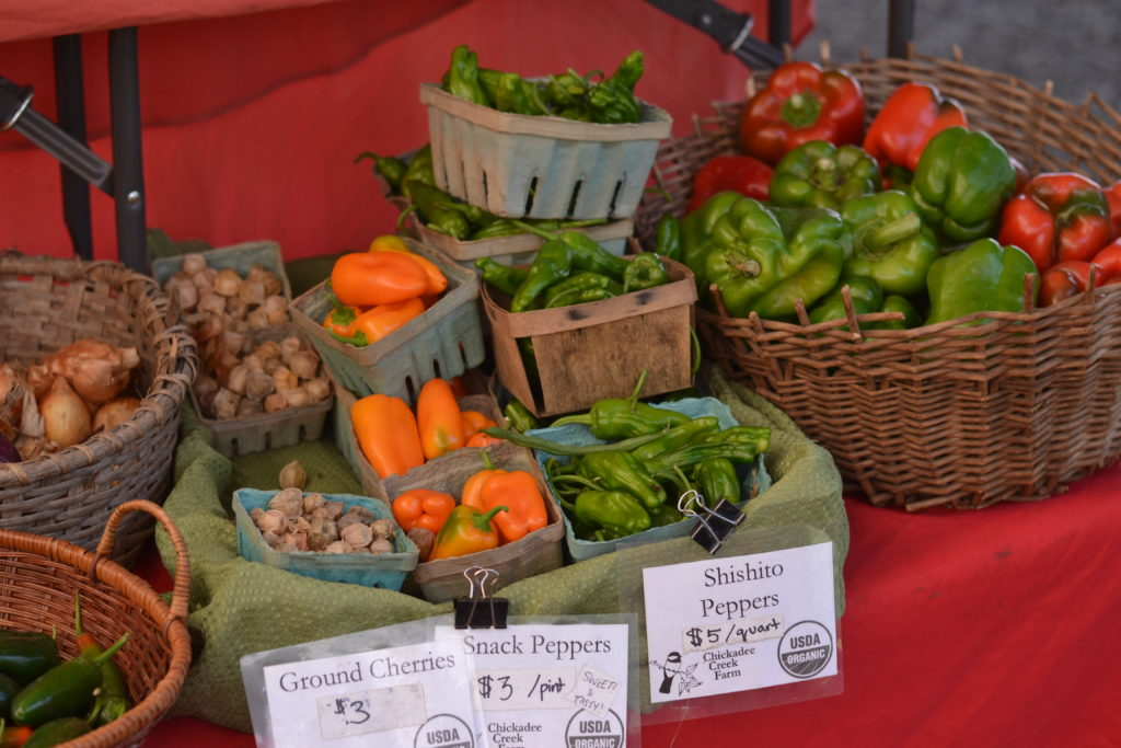 peppers and ground cherries